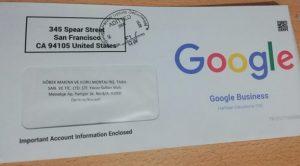 Google Dolandırıcılarına  Dikkat ( ORJİNAL GOOGLE ZARFI NASILDIR )