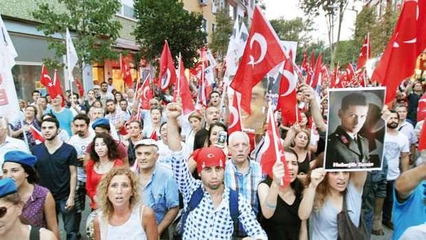 Aydın'da Terörü Protesto Yürüyüşü