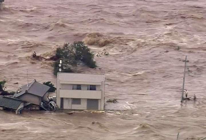 Japonya'da Sel, 100 Bin'den Kişi Evsiz Kaldı