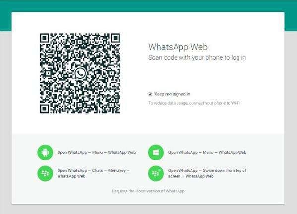 WhatsApp Web, İphone'da